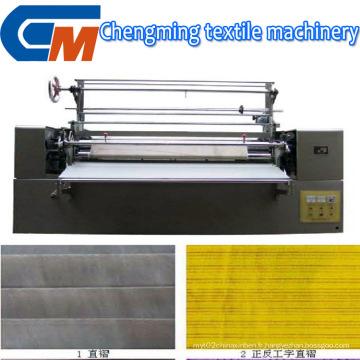 Machine de plissage de finition de tissu de textile de tissu automatique universel