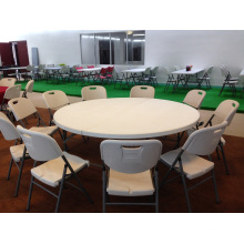 6ft Plastic Folding Half Moon Round Banquet Table with 10 Seaters