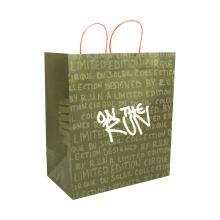 Custom size brown kraft paper bags natural material paper bag shopping bags