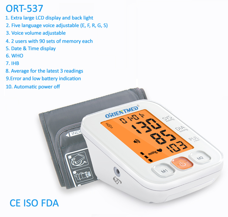 ORIENTMED-537-Details-of-blood-pressure-monitor