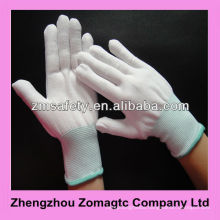 Lint Free Seamless Knitted White Nylon Gloves 4131 ZMR1606