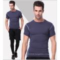 Plain Spandex / Polyester Sportswear Gym T-Shirt für Männer