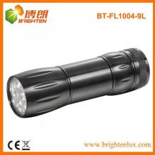 Fabrik Bulk Verkauf Günstige EDC Taschenlampe, Aluminium 9 LED Taschenlampe frei