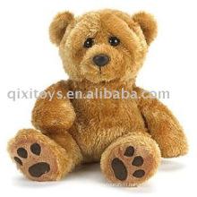 plush&stuffed footprint teddybear,soft sitting animal toy