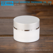 Cilindro de 15g KJ-A15-A rodada delicado alta qualidade pequeno e bonito recipiente transparente para cosméticos