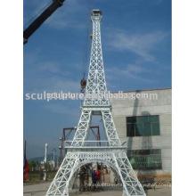 Großes modernes Denkmal des Eiffelturms im Freien Metall Skulptur