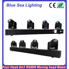 4pcs x 10 Вт RGBW 4in1 светодиодный индикатор движения луча