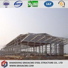 Construção de aço para estrutura de planta industrial