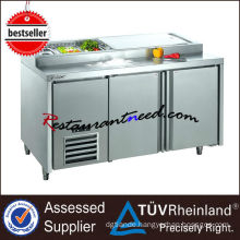 R243 2 Doors Stainless Steel Fancooling Pizza Prep Commercial Refrigerator