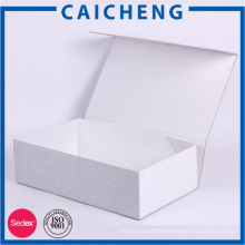 Boîte d'emballage épaisse de cadeau de papier blanc de carton de haute qualité avec la mousse