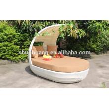 comfortable PE rattan lounge chaise beach wicker furniture