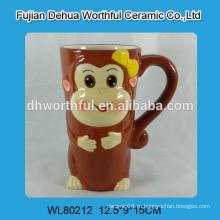 Керамическая кофейная кружка с дизайном обезьяны новинки