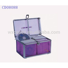 200 CD disks aluminum cute cd dvd case with clear acrylic panel as walls wholesales