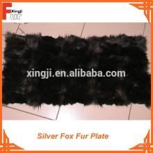 Placa de piel de zorro plateado de primera calidad