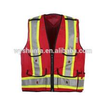 5 points de rupture 5 façons de déchirure. Vêtements de sécurité durables à haute visibilité pour le travail de police en service, protection de garde