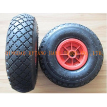 Gummi-Rad mit Kunststoff-Felge