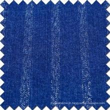 Azul algodão viscose poliéster spandex denim tecido para jeans