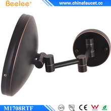 Orb Black Round LED Rectrable Wall Decorative Smart Mirror