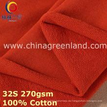 100% Baumwolle gestrickt Fleece-Stoff für Textilkleidung (GLLML385)