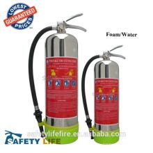 CE Марк 6л воды пены из нержавеющей стали огнетушитель