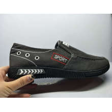 Stock Shoes Washed Denim Casual Men Injection Leisure