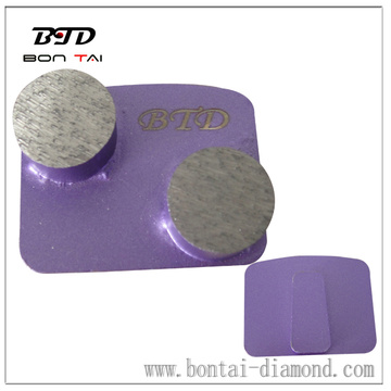 Double round segments grinding pads with redi-lock