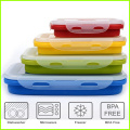 Lunch box pieghevole in silicone per uso quotidiano