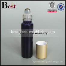 5ml 10ml 15ml 20ml glass tube bottle with stainless roller ball and matte aluminum cap