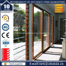 Hot Sale Interior Wooden Grain Glass Sliding Doors with SGS