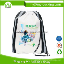 Nonwoven or Polyester Printed Student Drawstring Bag