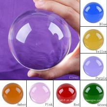 Vários tamanho decorativo sete cores bola de cristal