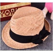 Novo Chapéu de Palha, Verão Hot Fashion Praia Lazer Chapéu de Palha