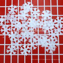 JiLe Mylar Foil Confetti Personnalisé Confetti de Table de Forme Métallique avec Flocon de Neige
