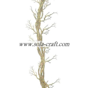 100m Plastic Artificial Wedding Tree Branch Cane With Silver