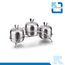 3 Pieces Condiment Jar & Salt Jar Set with Spoon