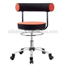 2017 Hot selling PU molded cushion black orange mesh computer chair task chair