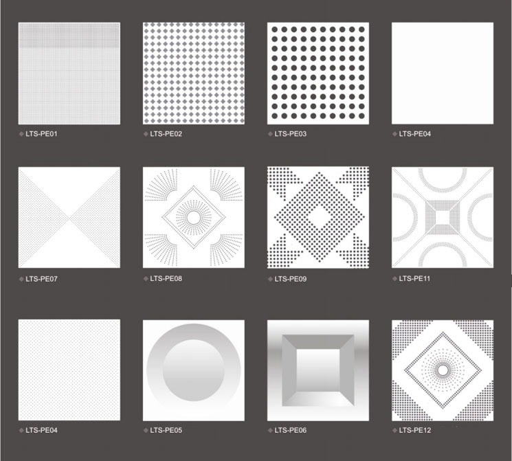 aluminum ceiling tiles pattern