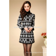 Frauen-Baumwollwintermantel, langer Mantel der Frauen Herbst- und Wintergroßverkaufdamen arbeiten Mantel um