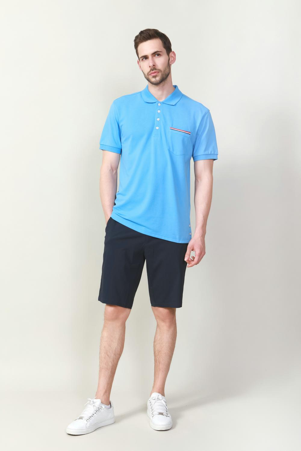 MEN'S PLAIN DYED POLO