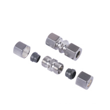 EMT DNV GL certificated  stainless steel pipe fittings metric one ferrule bite type compression hydraulic union fittings