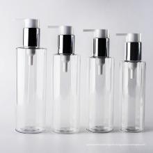 180ml-250ml Botellas claras claras de la loción del cilindro del animal doméstico de la pared (EF-PL01)