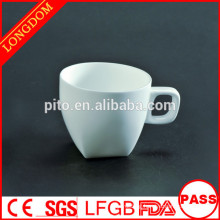 2014 hot sale square porcelain coffee cup for restaurant hotel