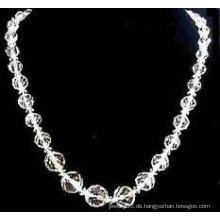 Runde Kristallperlen Handwerk Halskette