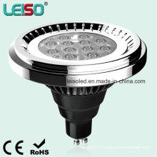 12.5W 1000lm LED AR111 qui remplacent directement la lampe halogène 100W (LS-S012-GU10-LWW / LW)