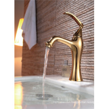 Luxury Copper Plated Deck Mounted Basin Faucet