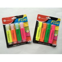 4pc blister carte emballage surligneur stylo set