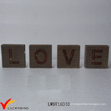 """""""Любовь"""" Recycle Wood Оптовые Рустикальные Vintage знак Freestand Письма"""