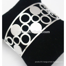 Wide hollow cutting cuff bangle bracelet sets