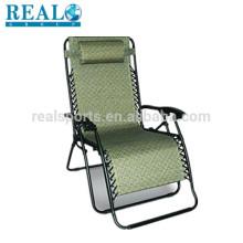 Chaise Dobrável Portátil Beach Chaise Sun Lounge Cadeira Dobrável