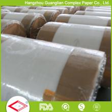 Papel de hornear pergamino de silicona en rollos gigantes de fábrica